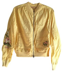Johnny Was Embroidered Jwla Bomber Yellow Jacket