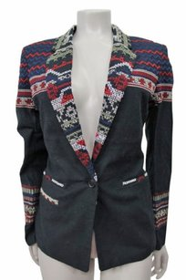 Joie Mehira Embroidered Black Jacket