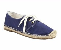 Joie Hemlock Canvas Lace Navy Flats