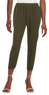 Joie Charlet Crepe Relaxed Relaxed Pants Military