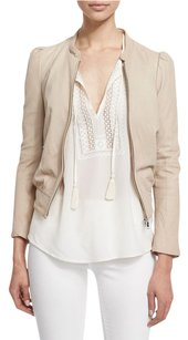 Joie Ivory Leather Jacket