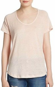 Joie Picasso Pascale Linen Silk Knit Scoop Neck 210549f T Shirt Pink