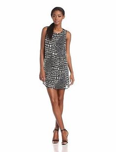 Joie short dress black/off white Caviar Beaded Meka Silk on Tradesy