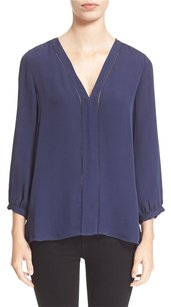 Joie Silk Top Dark Navy