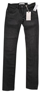Joie Womens Gray Wash Mid Rise Skinny Fitted Pants Slacks Trousers Skinny Jeans