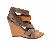 Joie Indian Royce Strappy Wedge Leather Sandals 220229f brown / Carmel Pumps