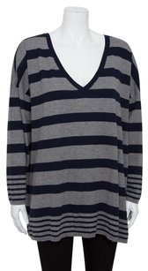 Joie Chyanne Striped V Neck Wool Mix Long Sleeve Knit Blouse Shirt Sweater