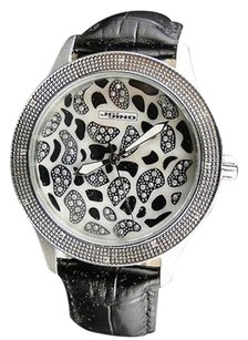 JoJino Lady Jojinojojojoe Rodeo Black And White Genuine Mj-1040 Diamond Watch