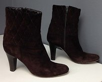 Jon Josef Suede Quilted Brown Boots