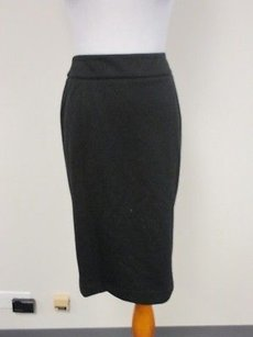 Jones New York Side Zip Stretch Solid A Line O517 Skirt Black