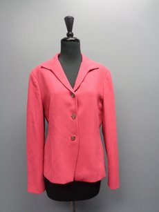 Jones New York Button Up Pink Jacket