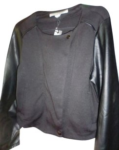 Jones New York black Leather Jacket