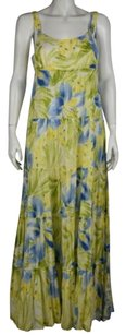 Jones New York short dress Green Sport Floral Full Length Shift on Tradesy