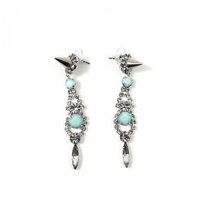 Joomi Lim Joomi Lim Let Them Eat Cake Pink Stone Silver Crystal Spike Earrings