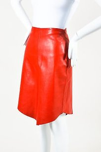 Joseph Leather Pointed Skirt Red