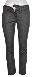 Joseph Womens Black Tweed Cropped Wool Dress Trousers Capri Capri/Cropped Pants Gray