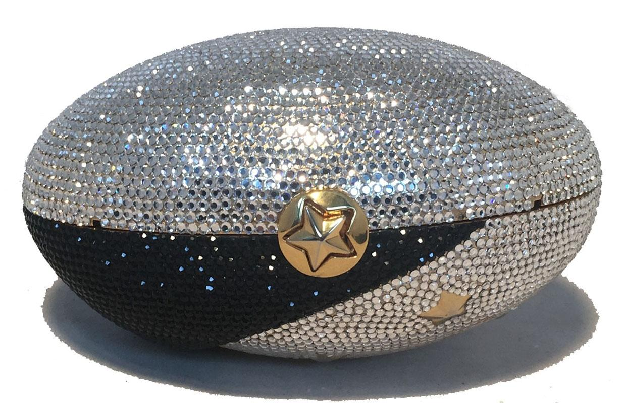 Judith Leiber Swarovski Crystal Moon And Stars Minaudiere Evening Bag 2UrqL