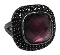 Judith Ripka Judith Ripka Amythest Black Diamond Sterling Silver 17.96g Ring Max065810