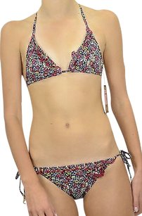 Juicy Couture Authentic Juicy Couture Felicity String Bikini Regal Ditzy Floral Ruffles