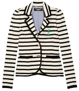 Juicy Couture Black and White Stripe Blazer