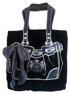 Juicy Couture Canvas Tote in black
