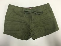 Juicy Couture Olive Linen Cuffed Tie Waist P Sma3113 Shorts Green