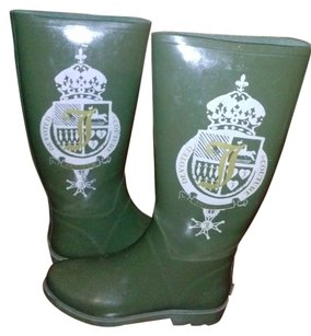 Juicy Couture Crest Logo Fitted Calf army green Boots