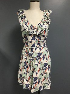 Juicy Couture short dress Multi-Color Floral Ruffle Detail Tie Mini Sma763 on Tradesy