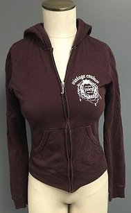 Juicy Couture Maroon Zip Up Sweater