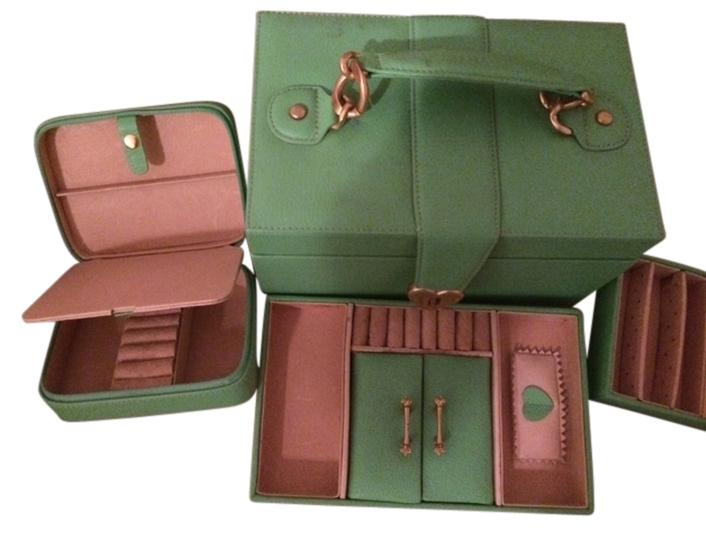 Juicy Couture Green Jewelry Box with Many Separate Compartments For