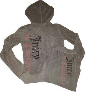 Juicy Couture Pink & Terry Cloth Tracksuit Outfit Set Sweatshirt