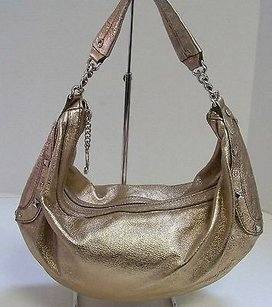 Juicy Couture Gold Krackle Leather W Hobo Bag