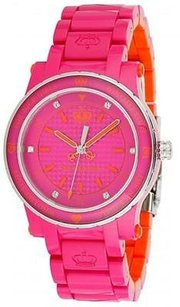 Juicy Couture Juicy Couture Hrh Hot Pink And Orange Plastic Ladies Watch 1900727