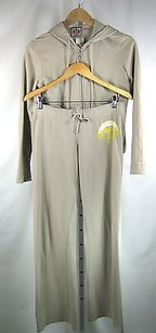 Juicy Couture Juicy Couture Khaki Free To Be Juicy Sweatsuit Jacket Pant Set