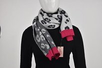 Juicy Couture Juicy Couture Womens Gray Scarf Os Animal Print Casual