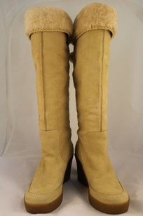 Juicy Couture Womens Beige Boots