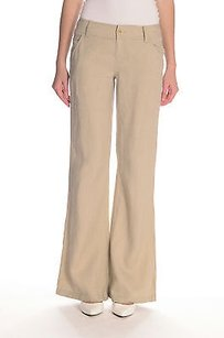 Juicy Couture Linen Trouser Relaxed Pants Beige