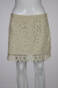 Juicy Couture Bird By Womens Mini Skirt Beige