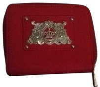 Juicy Couture Red JC Billfold Saffiano Leather