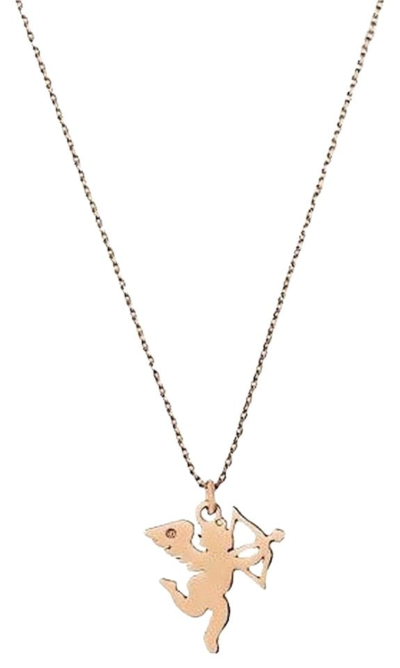 Juicy Couture Rose Gold Cupid Pendant Yjru6595 Necklace Tradesy