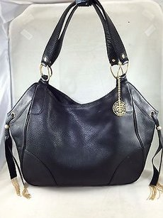 Juicy Couture Pebble Satchel in Black