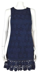 Juicy Couture Womens Floral Crotchet Above Knee Casual Sheath Dress