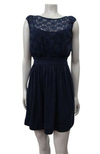 Juicy Couture short dress navy Floral on Tradesy
