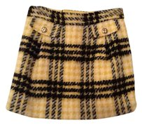 Juicy Couture Wool Mini Skirt black/yellow