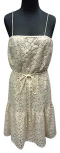 Julie Dillon short dress Ivory Nylon Blend Spaghetti Strap Lace Overlay Sma10420 on Tradesy
