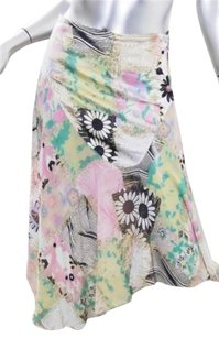 Just Cavalli Womens Floral Print Pink Flair Short Skirt Multi-Color