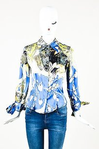 Just Cavalli Blue Multicolor Top Multi-Color