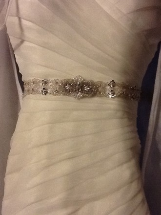 Justin Alexander Ivory Limited Edition 6271 Modern Wedding Dress Size 2 (XS)