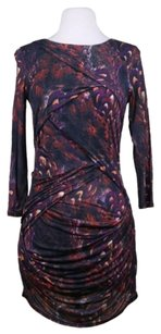 Karen Millen Womens Printed Sheath Casual Mini Dress