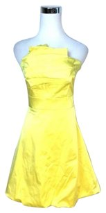 Karen Millen short dress Yellow Sateen on Tradesy